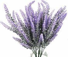 4 pezzi lavanda fiori artificiali mazzi di viola