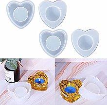 4 pezzi silicone cuore tealight portacandele