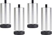 4 piedini regolabili per mobili in acciaio inox,