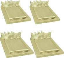 4 set di biancheria da letto in satin, 200x150 cm,