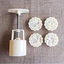 4 Style Flower Shaped Mooncake Stampo Set