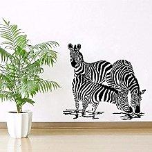 46X42 Cm Adesivo Murale Con Animali Africani