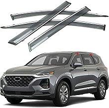 4pcs Deflettori Vento Auto per Hyundai Santa Fe