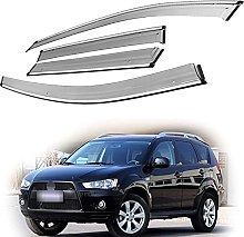 4pcs Deflettori Vento Auto per Mitsubishi