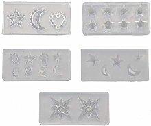 5 stampini in silicone con motivo a forma di