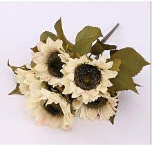 5 teste fiori artificiali girasoli fiori in