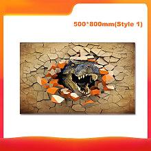50 * 80cm 3D Dinosaur Stampe modello di piano