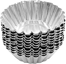 50 pezzi in acciaio inossidabile color argento a