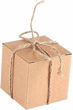50 pezzi Mini scatola bomboniera quadrata Kit
