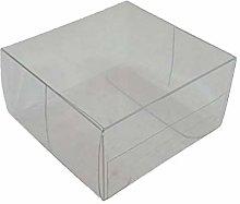 50 PZ Scatola pvc trasparente 6x6x3 cm