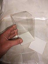 50 PZ Scatola pvc trasparente 8X8X13 cm