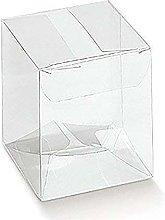 50 PZ Scatola PVC Trasparente 8X8X15 cm