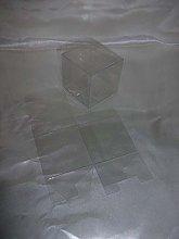 50 PZ Scatola Trasparente PVC 5x5x5 cm