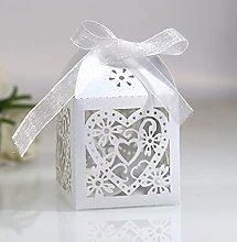 50 pz scatoline portaconfetti matrimonio perlato