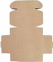 50Pcs Maple Leaf Pattern Carta Kraft Sapone Fatto