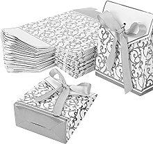 50PCS Sacchetti di Carta Regalo, Scatole di