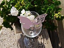 50pz farfalle Segnaposto Segnabicchiere VARI