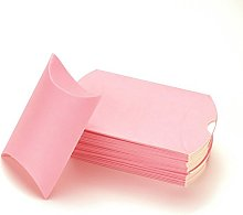 50pz Portaconfetti Scatole Cuscino In Carta Kraft