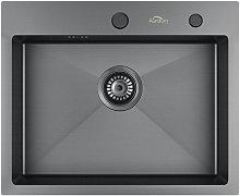 55x45x18.5 cm Lavello Cucina 1 Vasca in Acciaio