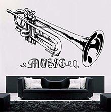 57x36cm Tromba Adesivo murale musica Stile