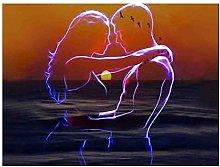 5D Diamante Rotondo Pittura Fai da Te Romantico