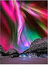 5D DIY Diamante Pittura Colorata Aurora Dipinta