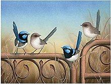 5D DIY Diamante Pittura Coppia Uccello Rotondo