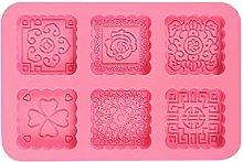 6-Cavity - Stampo rotondo in silicone 3D, per