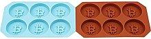 6 Fori Bitcoin Vassoio Ghiaccio Congelare Stampo