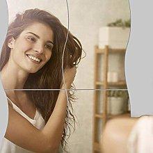 6 Pezzi Fogli Pellicola a Specchio Adesivo Murale
