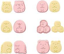 6 Pezzi Set Di Formine Per Biscotti 3D Stampo Per
