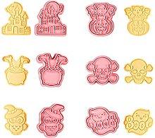 6 Pz/Set Happy Halloween Cookie Cutter Plastica 3D