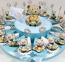 60 bomboniere orsetti portafoto clip su torta