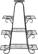 66 * 22 * 102 cm Fioriera in metallo Porta Piante