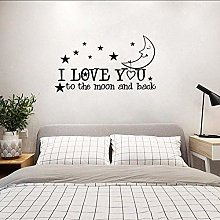 68 Cm * 38,3 Cm I Love You To The Moon And Home