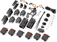 6DOF Metal Claw Braccio robotico con servi Kit fai