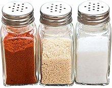 6pcs pepe shaker barbecue cucina vetro cruet