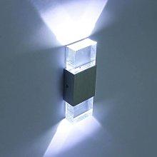 6W Lampada da parete a LED in alluminio acrilico