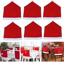 6x coprisedie rosse per decorazioni natalizie