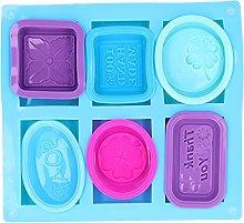 7 pezzi di stampi per sapone in silicone, stampi