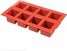 8 cavità cubo forma quadrata stampo in silicone