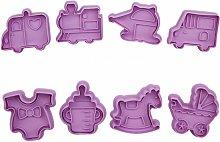 8 parti di Natale Cookie Cutter Fudge Moule Set
