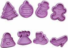 8 pezzi di natale biscotto taglierina fogge stampo