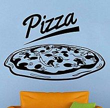 84X57Cm Pizzeria Logo Adesivo Murale Vinile