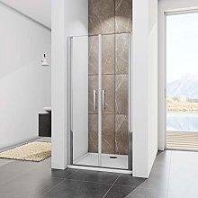 85x195cm Porta Battente Box doccia per Nicchia Due