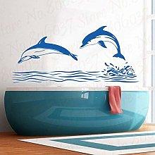 86X39Cm Delfino Adesivo Art Deco Adesivo Bagno
