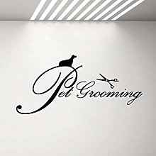 89X42Cm Pet Grooming Sign Sign Wall Window Decal