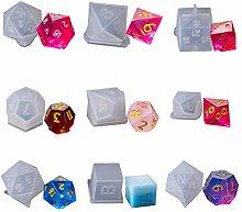 9 forme dadi filetto quadrato triangolo dadi