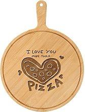9 Pollice Legno Pizza Stone Board Rotondo con Mano