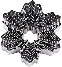 9pcs Christmas Snowflake Shaped Cookie Cutter